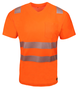19676-000 - Bamboo V-Neck T-Shirt, Hi Vis orange