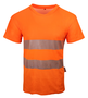 19682-000 - Rundhals-Warn T-Shirt, HiVIS orange(Ausl.=)